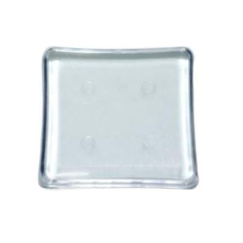 Base Mini Quadrada Transparente 4,5 x 4,5cm - 10 unid.