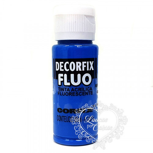 Tinta DECORFIX 60 ML - AZUL FLUO