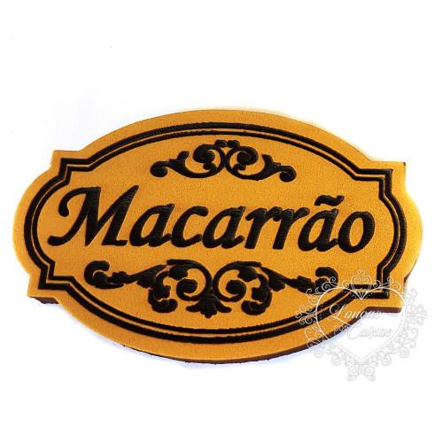 Molde de EVA Baixo Relevo M - Macarrão
