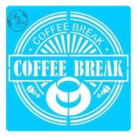 Stencil Coffe Break -20x20..