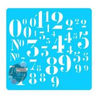 Stencil Números - 25x25..