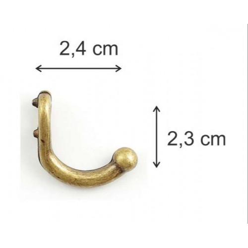 Ganchos M - 5 Unid - 2,4 Cm - Ouro Velho