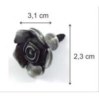 Puxador Flor Com Parafuso - 2 Unid - Pra..