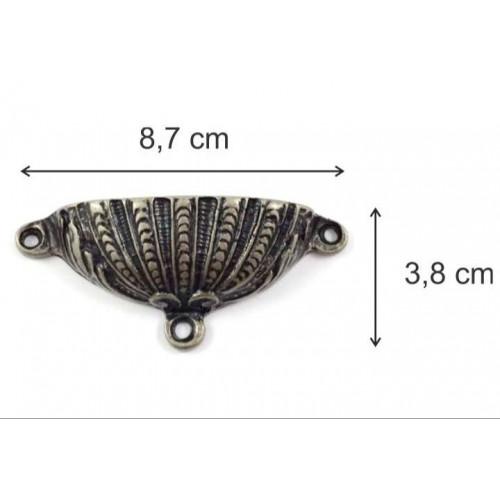 Puxador Concha - 2 Unid - Ouro Velho