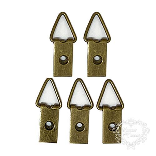 Suporte para Quadros Triângulo 31x10mm - 5 unid - Ouro Velho