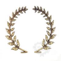 Coroa De Louro G - 4 Unid. - Ouro Velho..