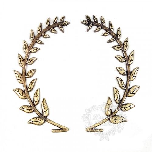 Coroa De Louro G - 4 Unid. - Ouro Velho