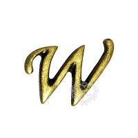 Letra Metal Ouro velho - W..