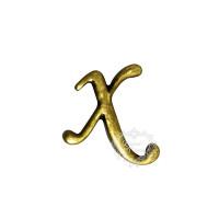 Letra Metal Ouro velho - X..