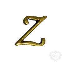 Letra Z - Ouro Velho..