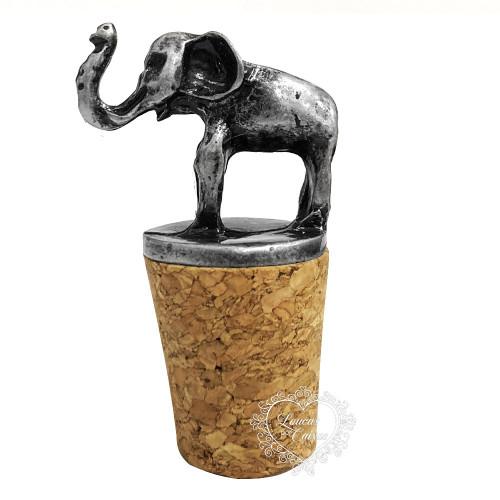 Rolha Decorativa Elefante - 1 Unid - Prata Velho