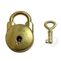 Cadeado Com Chave - 1 Unid - Dourado - V..