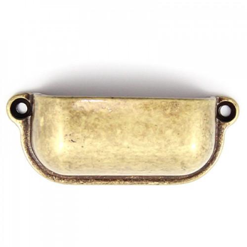 Puxador Retangular Liso - 2 Unid - Ouro Velho