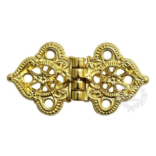 Dobradiça Flor de Lótus 2 unid - Dourado