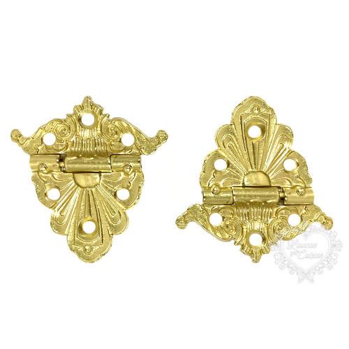 Dobradiça Imperial 2 unid - Dourado - Vera Diman