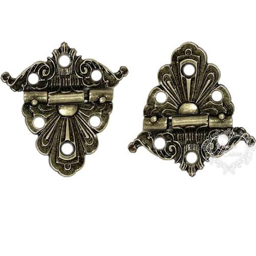 Dobradiça Imperial 2 unid - Prata Velho - Vera Diman