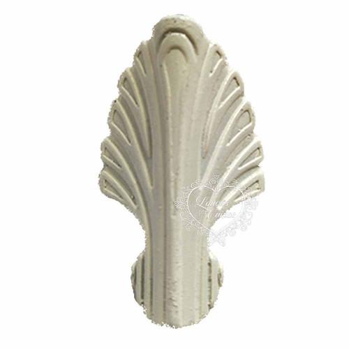 Pezinho Folha G 25X42 - 4 Unid - Branco