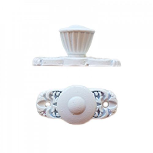 Puxador Colônial - 2 Unid - Branco