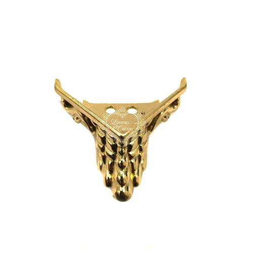 Pezinho Lion Grande 20X42Mm - 4 Unid - Dourado