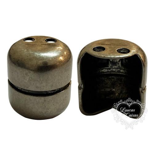 Pezinho Botijão 17X20 - 4 Unid - Prata Velho