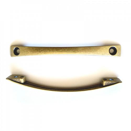 Puxador Médio Alça Lisa 9X10 - 2 Unid - Ouro Velho