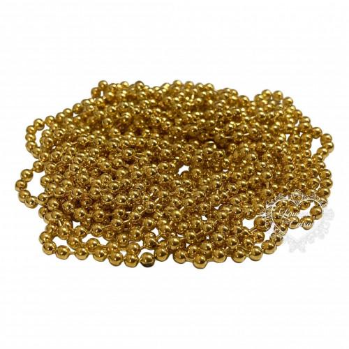 Aljofre em Metal 2mm - 2,5 metros - Dourado