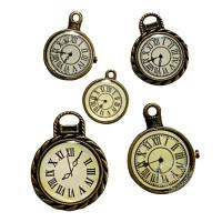 Kit com 5 relógios 17 a 32mm em metal..