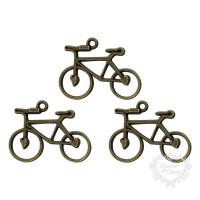 Bicicleta em Metal - 3 unid - Ouro Velho..