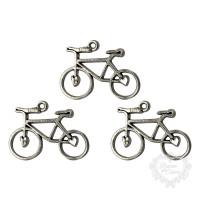 Bicicleta em Metal - 3 unid - Prata..