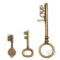 Kit com 3 Chaves - LPC-FER-50 - Ouro Vel..