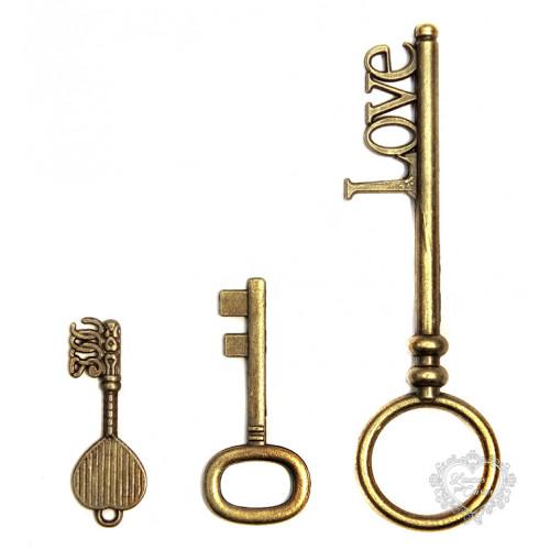 Kit com 3 Chaves - LPC-FER-50 - Ouro Velho