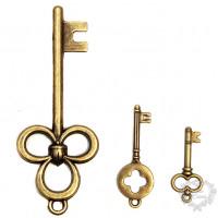 Kit com 3 Chaves - LPC-FER-59 - Ouro Vel..