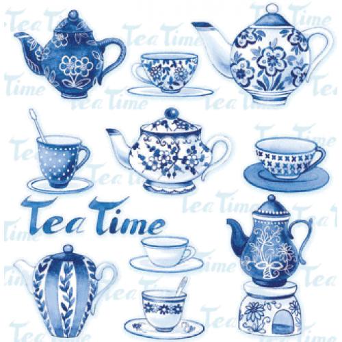 Guardanapo Tea Moments Blue - 2 unid.
