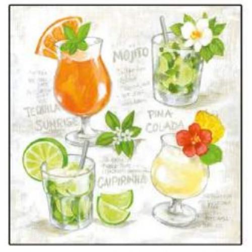 Guardanapo Four Cocktails - 2 unid