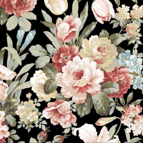 guardanapo floral kate black - 2 unid