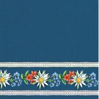 Guardanapo Bavarian Flowers Blue  - 2 un..