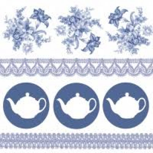 Guardanapo Teapots Blue Fsc Mix - 2 unid