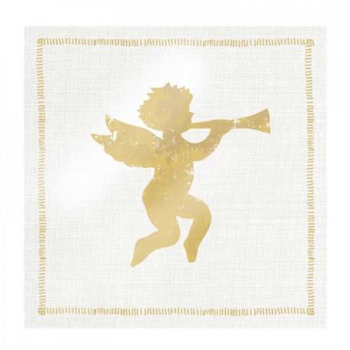 guardanapo angel fashion gold - 2 unid