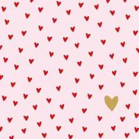 Guardanapo Little Hearts Rose - 2 unid..