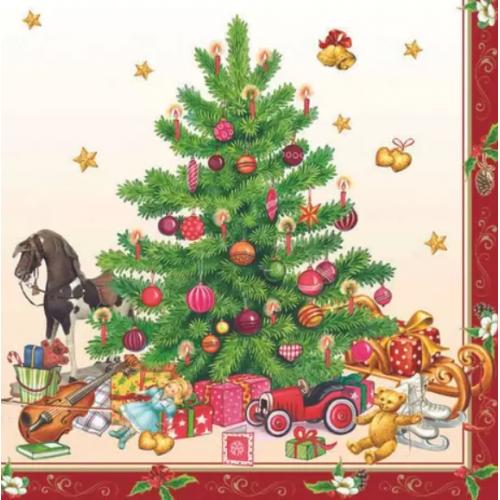 Guardanapo Nostalgic Christmas Tree - 2 unid