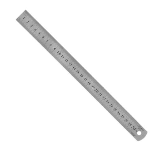 Régua graduada em aço inoxidável - 30 cm