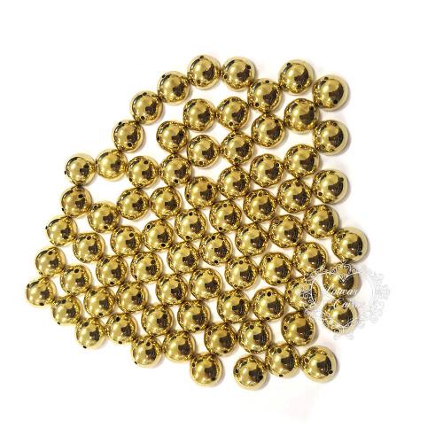 Chaton Para Costura Redondo Liso 10mm - 5g - Dourado