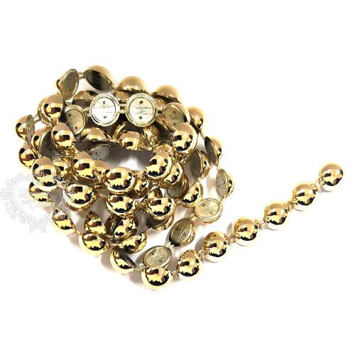 Cordão de Chatons 12mm Dourado - 1m