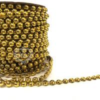 Cordão de Chatons 8mm Dourado - 1m..
