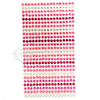 Cartela Strass Autocolante 4mm - Pink..