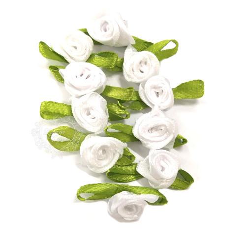 Flor Rococó 2,5cm - 10 unid. - Branco