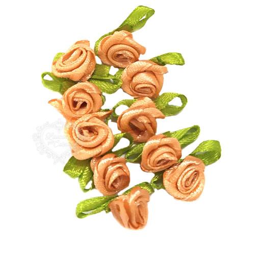 Flor Rococó 2,5cm - 10 unid. - Salmão