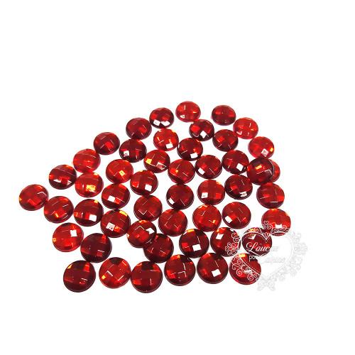 Chaton Redondo Sextavado 8mm - 5g - Vermelho