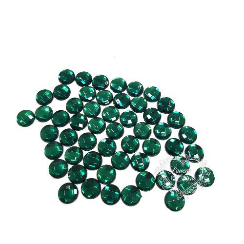 Chaton Redondo Sextavado 8mm - 5g - Verde Escuro