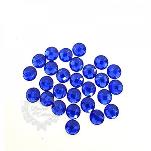 Chaton Redondo Sextavado 10mm - 5g - Azul Royal